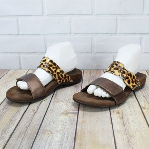 Vionic Orthaheel Camila Animal Print Slide Sandals